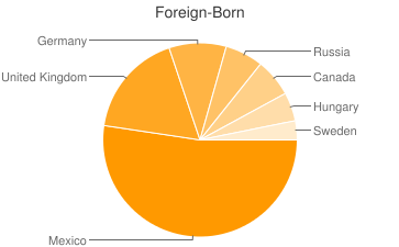 Most Common Foreign Birthplaces in Yarnell