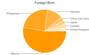 Most Common Foreign Birthplaces in San Diego