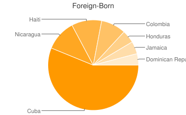 Most Common Foreign Birthplaces in Miami