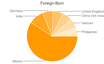 Most Common Foreign Birthplaces in Indianapolis