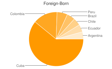 Most Common Foreign Birthplaces in33129