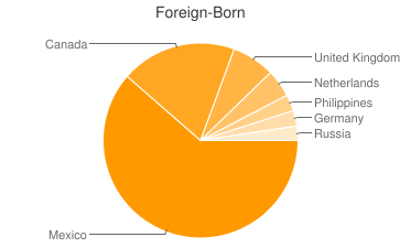 Most Common Foreign Birthplaces in86323