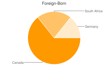 Most Common Foreign Birthplaces in04255