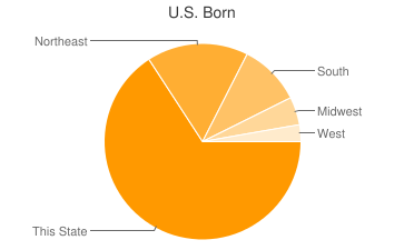 Most Common US Birthplaces in Boston