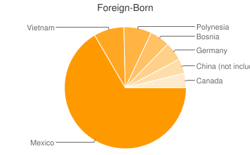 Most Common Foreign Birthplaces in Salt Lake City