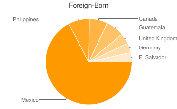 Most Common Foreign Birthplaces in92262