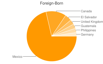 Most Common Foreign Birthplaces in Thousand Palms