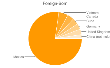 Most Common Foreign Birthplaces in Albuquerque