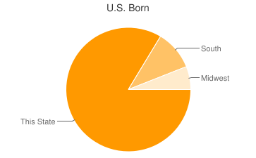 Most Common US Birthplaces in Winnebago