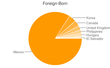 Most Common Foreign Birthplaces in92240