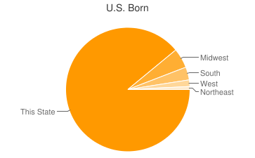 Most Common US Birthplaces in Twin Lake