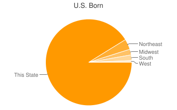 Most Common US Birthplaces in11792