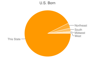 Most Common US Birthplaces in Staten Island