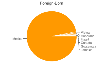 Most Common Foreign Birthplaces in80205