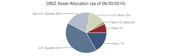 DBIZ Asset Allocation (as of 06/30/2014)