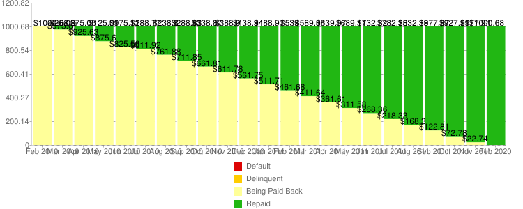 Repayment Overview chart