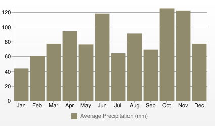 Milan Average Precipitation (mm)