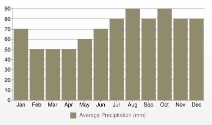 Manchester Average Precipitation (mm)