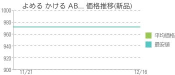 よめる かける AB... 価格推移(新品)