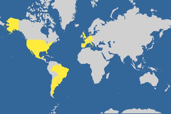 Quantos paises já visitei. Faça o seu mapa personalizado de viagens