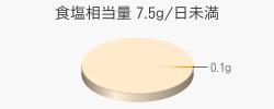 食塩相当量 0.1g(目標量7.5g/日未満)