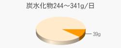 炭水化物39g(目標量244~341g/日)