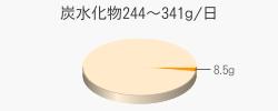 炭水化物8.5g(目標量244~341g/日)