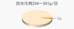 炭水化物12g(目標量244~341g/日)