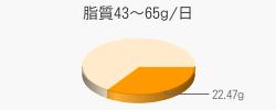 脂質22.47g(目標量43~65g/日)