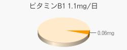 ビタミンB1 0.06mg(推奨量1.1mg/日)