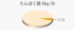 たんぱく質 2.77g(推奨量50g/日)