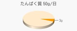 たんぱく質 3g(推奨量50g/日)