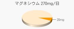 マグネシウム 20mg(推奨量270mg/日)
