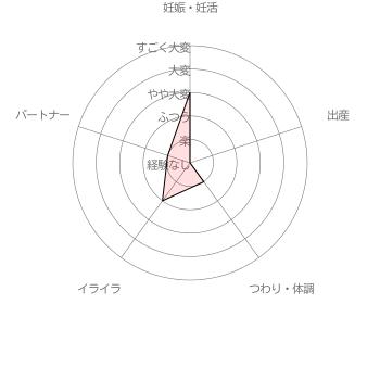 葉酸サプリ ベルタ葉酸サプリ利用者( 30代前半女性 妊娠5ヵ月)による妊活・妊娠~出産の苦労レベル5段階評価(2016年6月30日 当サイト独自調査結果による)