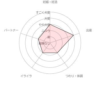 葉酸サプリ ベルタ葉酸サプリ利用者( 40代前半女性 出産後3年)による妊活・妊娠~出産の苦労レベル5段階評価(2016年6月30日 当サイト独自調査結果による)