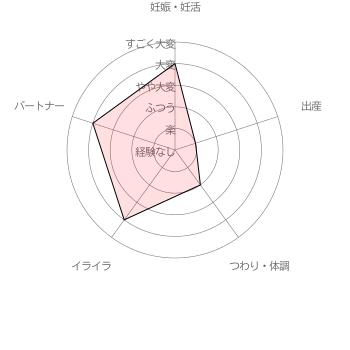 葉酸サプリ ベルタ葉酸サプリ利用者( 40代前半女性 出産後6年)による妊活・妊娠~出産の苦労レベル5段階評価(2016年6月30日 当サイト独自調査結果による)