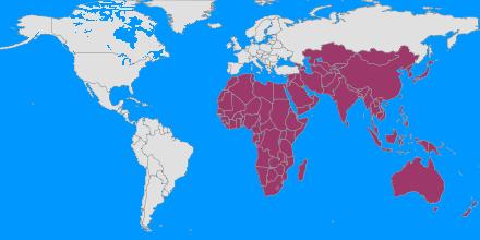Afrique, Asie, Australie, Oceanie