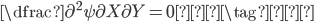 \dfrac{\partial^2 \psi}{\partial X\partial Y} = 0 \tag{☺}