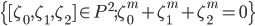 \{[\zeta_0, \zeta_1, \zeta_2]\in P^2; \zeta_0^m+\zeta_1^m+\zeta_2^m=0\}