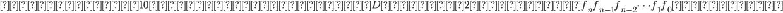 このとき、10進数の非負の整数Dを表す2進数は、 f_n f_{n-1}f_{n-2}\dots f_1 f_0 である。