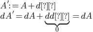 A':=A+dχ\\ dA'=dA+\underbrace{ddχ}_0=dA