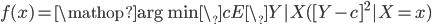 f(x) = \mathop{\rm arg~min}\limits\_{c} E\_{Y|X}([Y-c]^{2}|X=x)