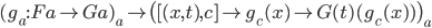 (g _ a : F a \rightarrow G a) _ a \mapsto \big( [ (x, t), c ] \mapsto g _ c(x) \mapsto G(t)(g _ c (x)) \big) _ a