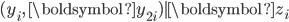 (y_{i},\,\boldsymbol{y}_{2i})|\boldsymbol{z}_{i}