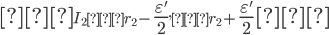 \LARGE [\normalsize I_2=r_2-\Large \frac{\varepsilon'}{2} \normalsize, r_2+\Large \frac{\varepsilon'}{2} \normalsize \LARGE]