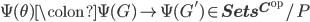 \Psi(\theta) \colon \Psi(G) \to \Psi(G') \in {\bf{Sets}}^{{\bf{C}}^{\text{op}}}/P
