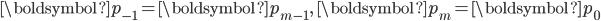 \boldsymbol{p}_{-1} = \boldsymbol{p}_{m-1},\ \boldsymbol{p}_{m} = \boldsymbol{p}_{0}