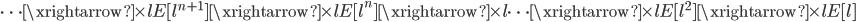 \cdots \xrightarrow{\times l} E[l^{n+1}] \xrightarrow{\times l} E[l^{n}] \xrightarrow{\times l} \cdots \xrightarrow{\times l} E[l^{2}] \xrightarrow{\times l} E[l]