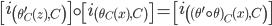 \left[ i_{\left( \theta'_{C}(z), C \right)} \right] \circ \left[ i_{\left( \theta_{C}(x), C \right)} \right] = \left[ i_{\left( (\theta' \circ \theta)_{C}(x), C \right)} \right]