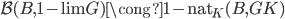 \mathcal{B}(B, \operatorname{1-lim} G ) \cong \operatorname{1-nat} _ K (B, GK)